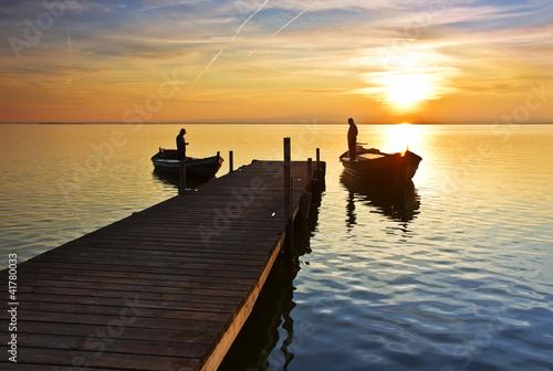 Deurstickers Pier La vida en el lago