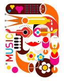 Fototapety Music - vector poster