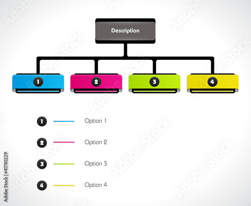 Colorful presentation flowchart