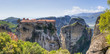 Panoramic view of Varlaam monastery, Meteora, Greece