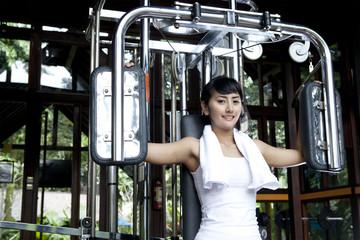 Woman doing fitness training
