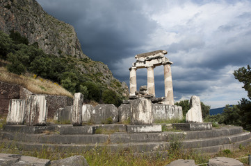 Temple of Athena at Delfi, Greece