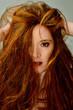 capelli spettinato rossi