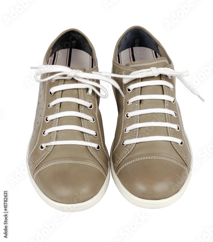 Pair of  shoes on a white background