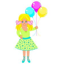 balon tutan kız çocuğu
