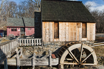 An old vintage grist mill in Rhode Island