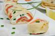 Pfannkuchen mit Lachs
