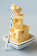 Stack of cheese,shallow focus
