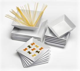 Vajilla platos blancos porcelana