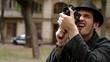 Man shoots video at the camera