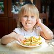 Child with pasta
