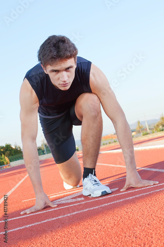 Determined an athlete is ready to start