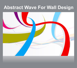 abstract colorful wall wave background