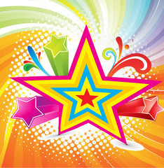 abstract colrful background with star