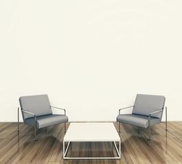 minimal modern interior armchairs