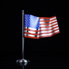 Metal souvenir of the United States flag