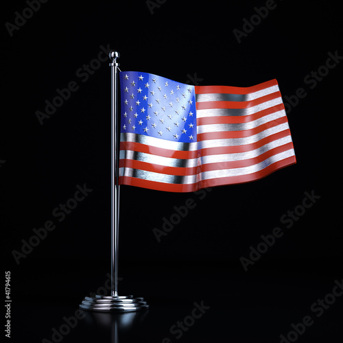 Metal souvenir of the United States flag