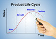 a pen pointer product life cycle chart