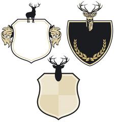 Wappen mit drei Hirschen