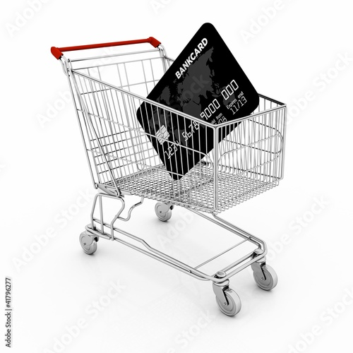 concept of shopping with electronic payment or online shopping