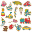 Baby Toys Stickers - for design and scrapbook - in vector
