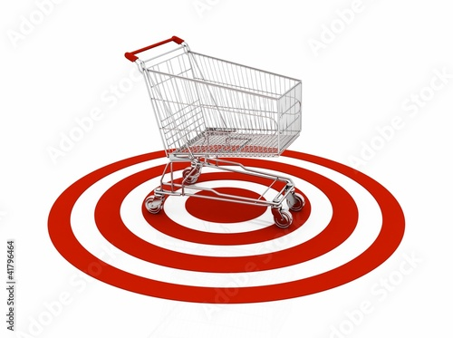 shopping cart with red target