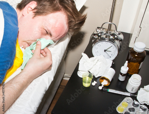 man in flu