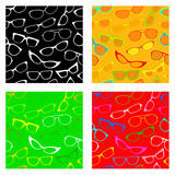 Seamless Patters Collection with Sunglasses and Glasses