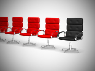 Office chair concept isolated on white background - 3d