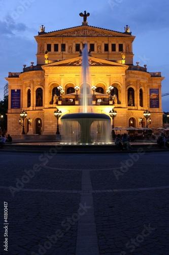 Leinwanddruck Bild Frankfurt am Main, Alte Oper (2012)