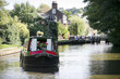 barge grand union canal locks - 41800614