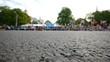 HD - City marathon. Wide angle view