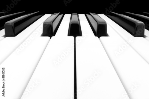 Wide angle shot of Piano Keyboard © dpullman