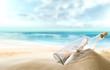 Fototapeten,strand,sommer,reisen,flasche