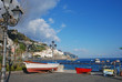 view of Amalfi from the port