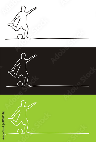 Fussballspieler als outline