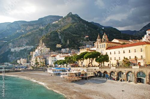 the golden beach of Amalfi