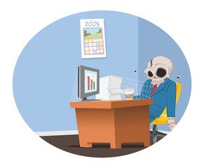 office employee skeleton