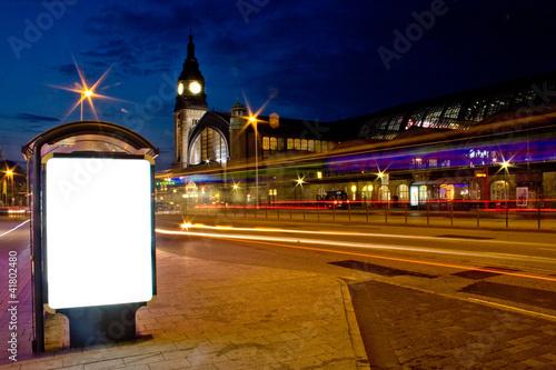 Leinwandbild Motiv Leucht Reklame