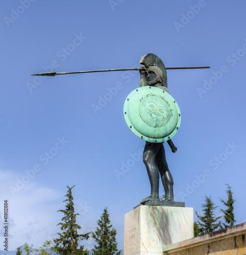 Poster Leonidas statue, Thermopylae, Greece