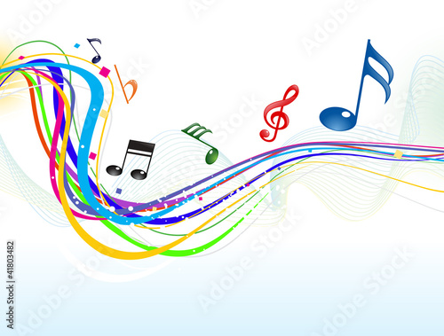 abstract musical wave background