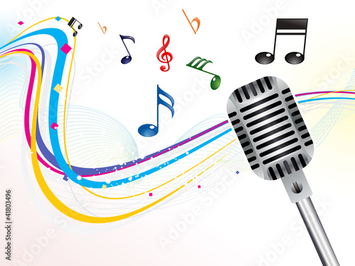 abstract musical mic background
