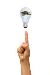 Bulb on a finger