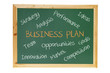 Blackboard with Business Concepts