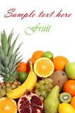 Fruit background isolated text