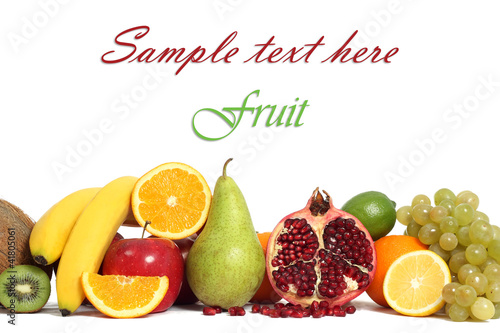 Fruit background isolated