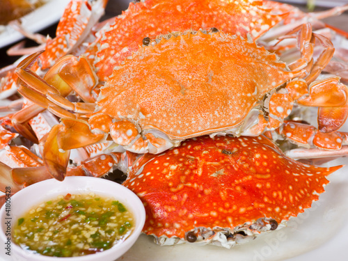 Steamed Blue swimming crab