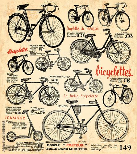 Staande foto Kranten fond vélo