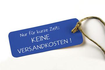 Keine Versandkosten - Plakette