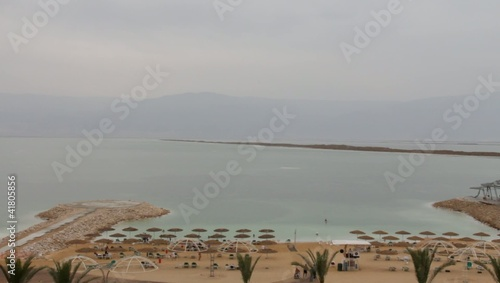 Beach and Dead Sea landscape